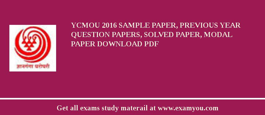 YCMOU 2018 Sample Paper, Previous Year Question Papers