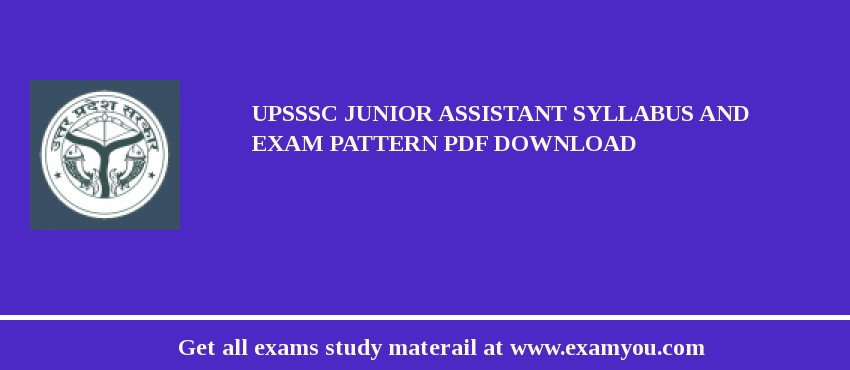 UPSSSC Junior Assistant Syllabus and Exam Pattern PDF Download
