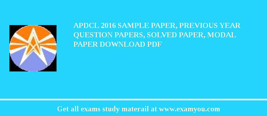 apdcl 2018 sample paper previous year question papers solved paper