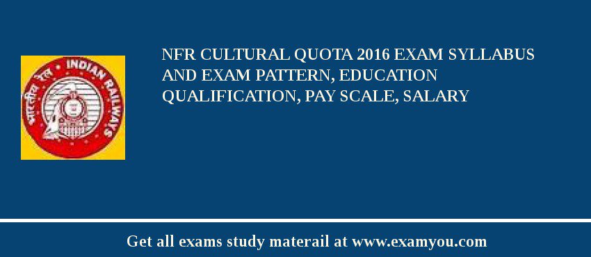 NFR Cultural Quota 2018 Exam Syllabus And Exam Pattern