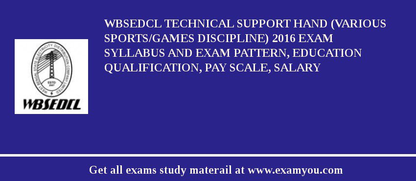 WBSEDCL Technical Support Hand (Various Sports/Games Discipline ...