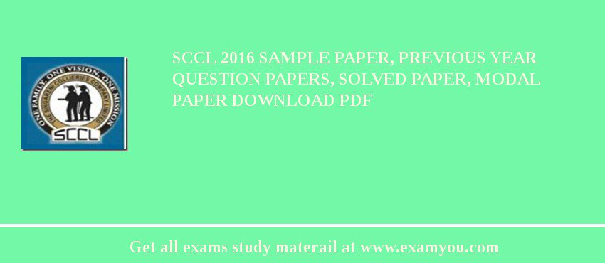sccl 2018 sample paper previous year question papers solved paper