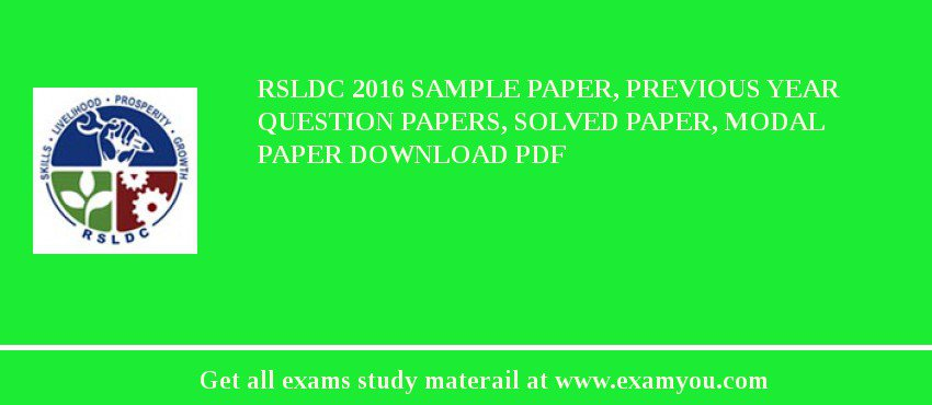 rsldc 2018 sample paper previous year question papers solved paper