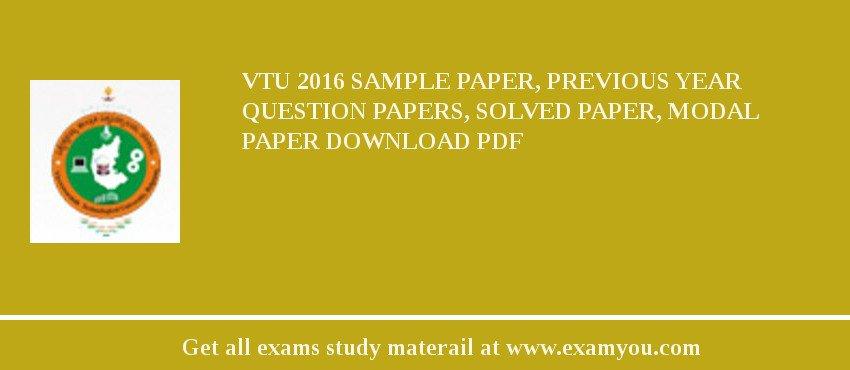 Vtu Question Papers Pdf