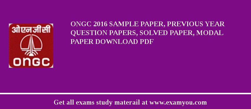 ongc 2018 sample paper previous year question papers solved paper