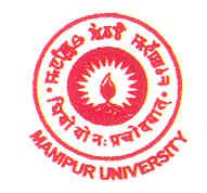 Manipur University March 2016 Job  For Junior Research Fellow