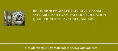 RBI Junior Engineer (Civil) 2018 Exam Syllabus And Exam Pattern, Education Qualification, Pay scale, Salary