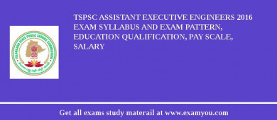 TSPSC Assistant Executive Engineers 2017 Exam Syllabus And Exam Pattern, Education Qualification, Pay scale, Salary