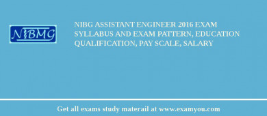 NIBG Assistant Engineer 2017 Exam Syllabus And Exam Pattern, Education Qualification, Pay scale, Salary