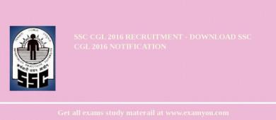 SSC CGL 2018 Recruitment - Download SSC CGL 2018 Notification