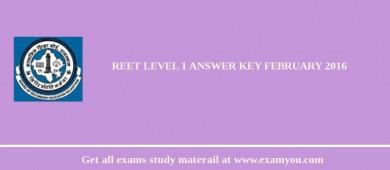 REET Level 1 Answer key February 2018